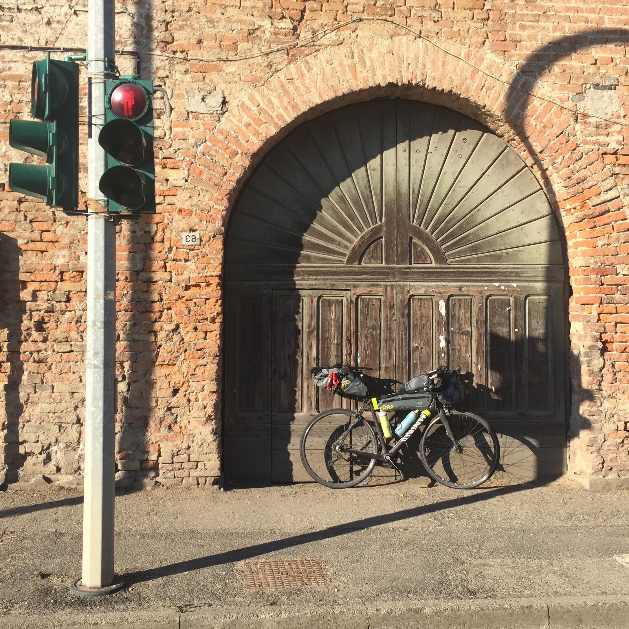 Bike, small door, big door